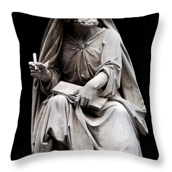 Isaiah Throw Pillow by Fabrizio Troiani