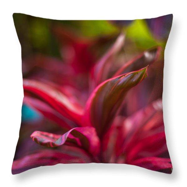 Island Bromeliad Throw Pillow by Mike Reid