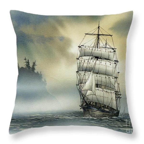 Island Mist Throw Pillow by James Williamson