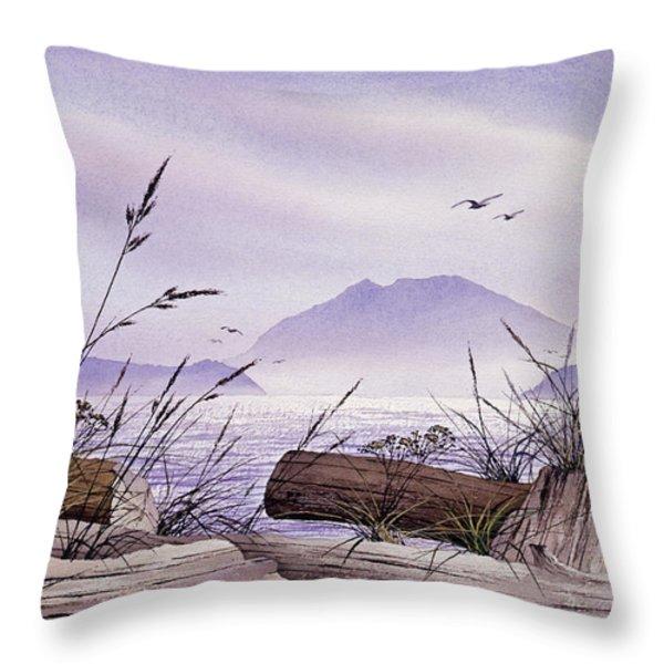 Island Splendor Throw Pillow by James Williamson
