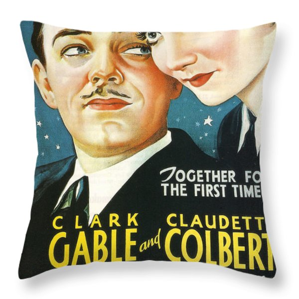 It Happened One Night Throw Pillow by Nomad Art And  Design
