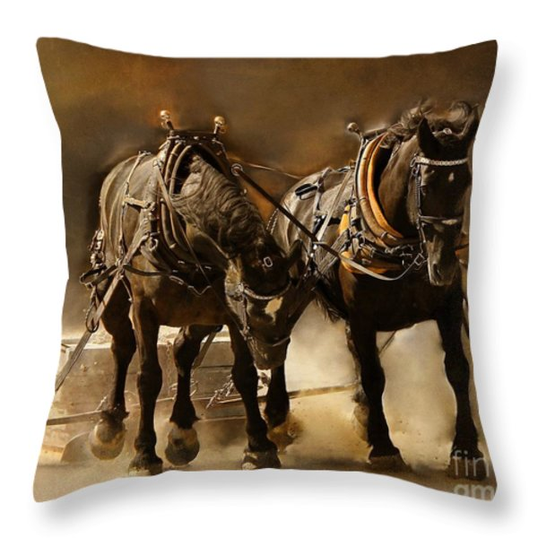 It Takes Two Throw Pillow by Davandra Cribbie