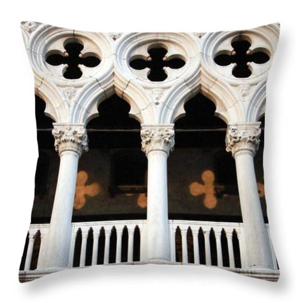 Italian Arches Throw Pillow by Linda Woods