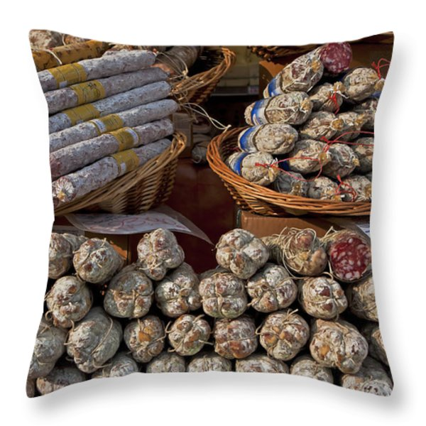 italian market Throw Pillow by Joana Kruse