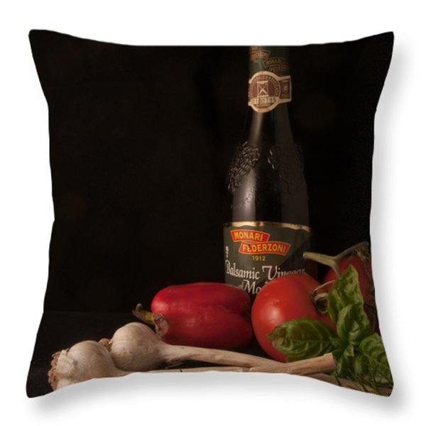 Italian Palate Number 1 Throw Pillow by Constance Sanders