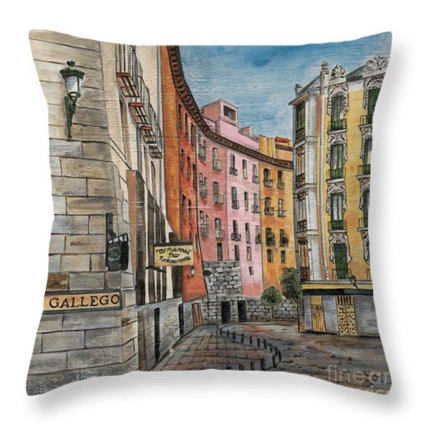 Italian Village 2 Throw Pillow by Debbie DeWitt
