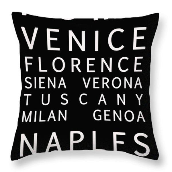 Italy Cities - Bus Roll Style Throw Pillow by Nomad Art And  Design