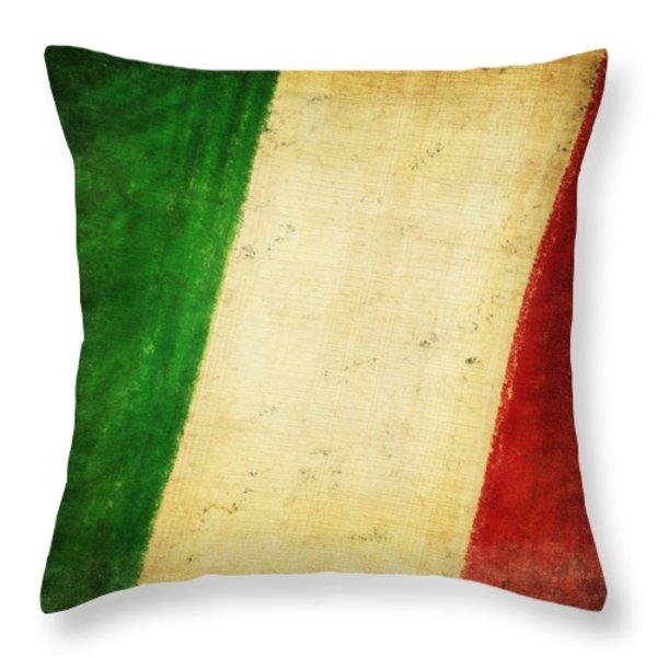Italy flag Throw Pillow by Setsiri Silapasuwanchai