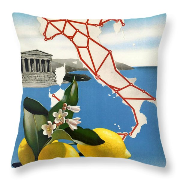 Italy Throw Pillow by Nomad Art And  Design