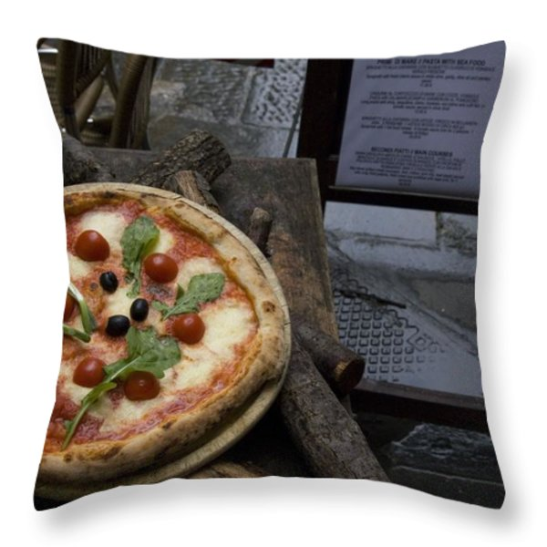 Italy, Tuscany, Florence, A Pizza Throw Pillow by Keenpress