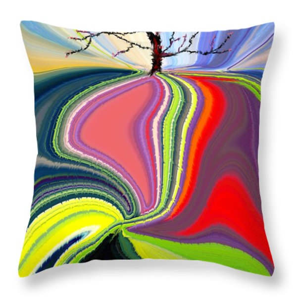 Its A Tree's Life Throw Pillow by Renate Nadi Wesley