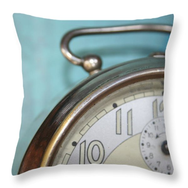 It's Time Throw Pillow by Nomad Art And  Design