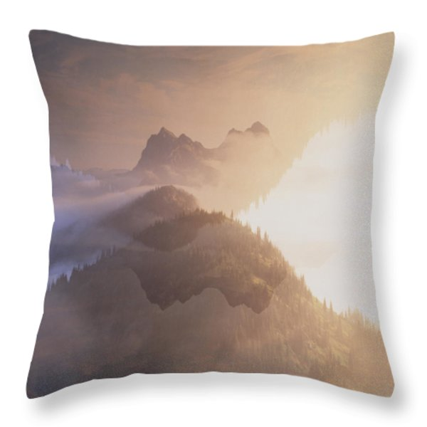 Jack Kerouac View Of Mount Hozomeen Throw Pillow by David Pluth
