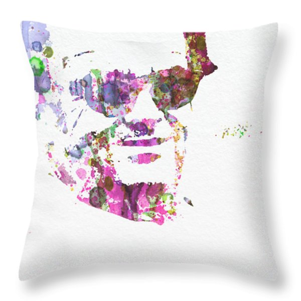 Jack Nicolson 2 Throw Pillow by Naxart Studio