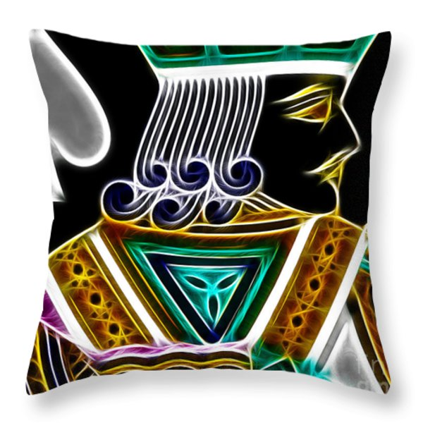 Jack Of Spades - V4 Throw Pillow by Wingsdomain Art and Photography