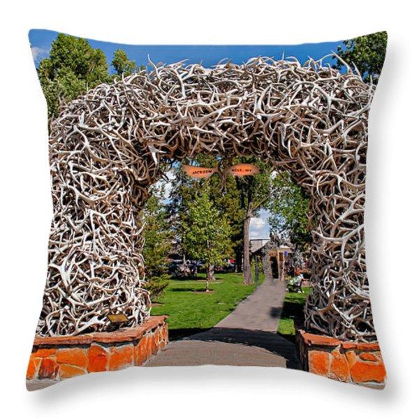Jackson Hole Throw Pillow by Robert Bales