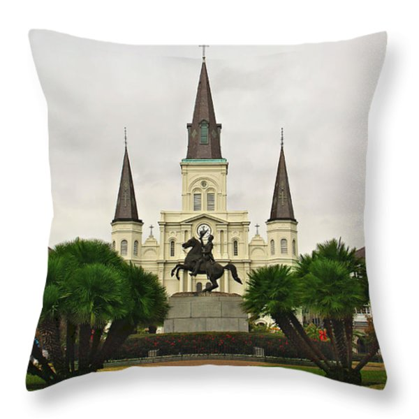 Jackson Square Throw Pillow by Perry Webster