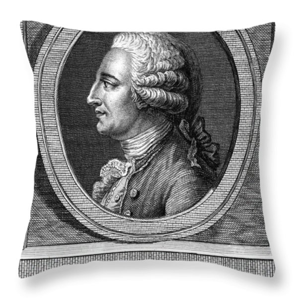 Jacques-�tienne Montgolfier, French Throw Pillow by Photo Researchers