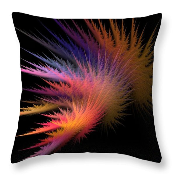 Jagged Edge Throw Pillow by Lourry Legarde
