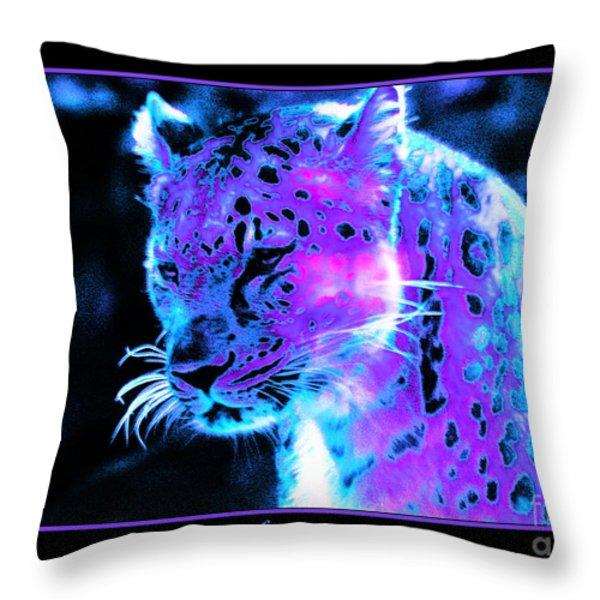 Jaguar  Throw Pillow by Nick Gustafson
