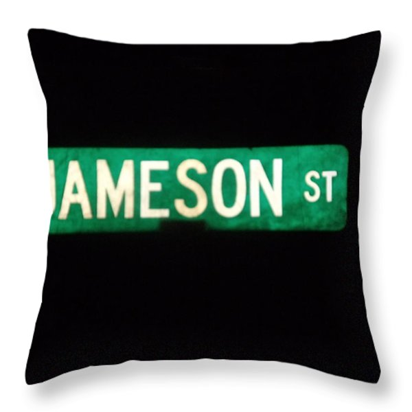 Jameson Street Throw Pillow by Anna Villarreal Garbis