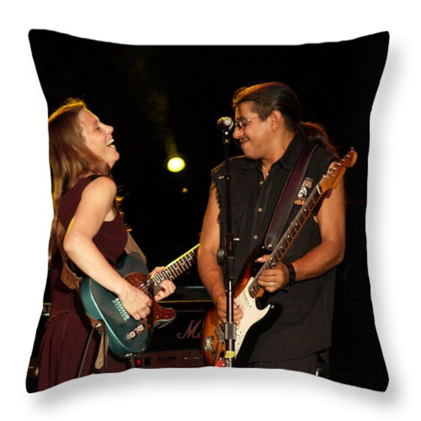 Jammin Throw Pillow by Bill Gallagher