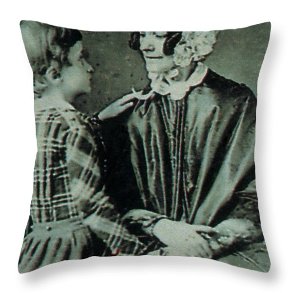 Jane Pierce Throw Pillow by Photo Researchers