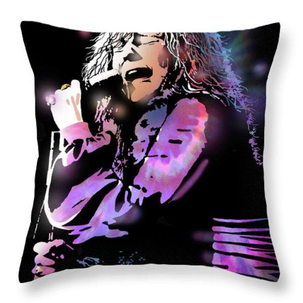 Janis Joplin Throw Pillow by Paul Sachtleben