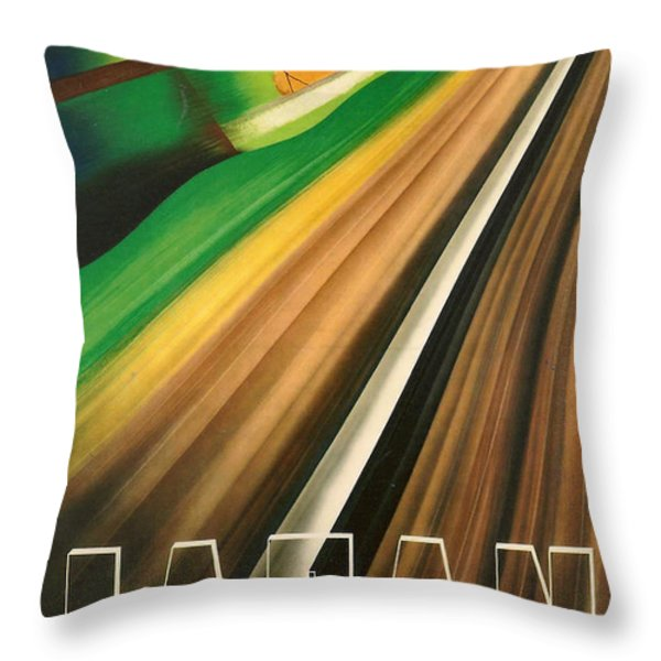 Japan Throw Pillow by Nomad Art And  Design