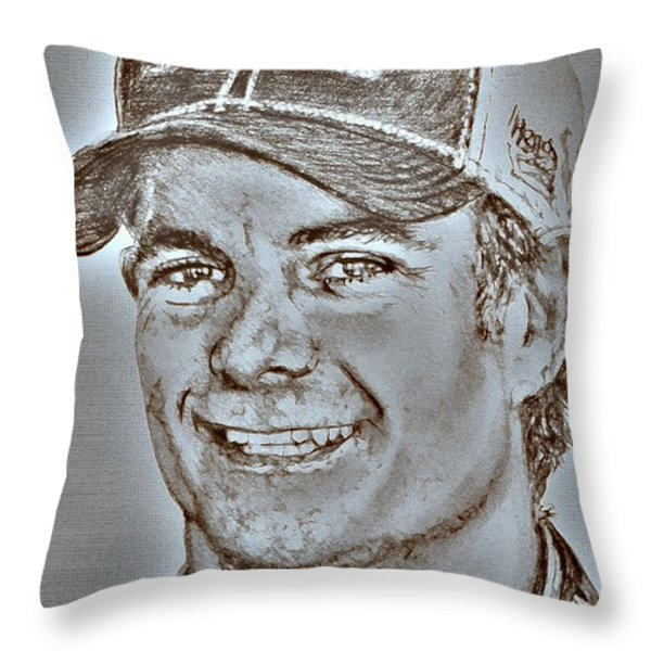 Jeff Gordon in 2010 Throw Pillow by J McCombie
