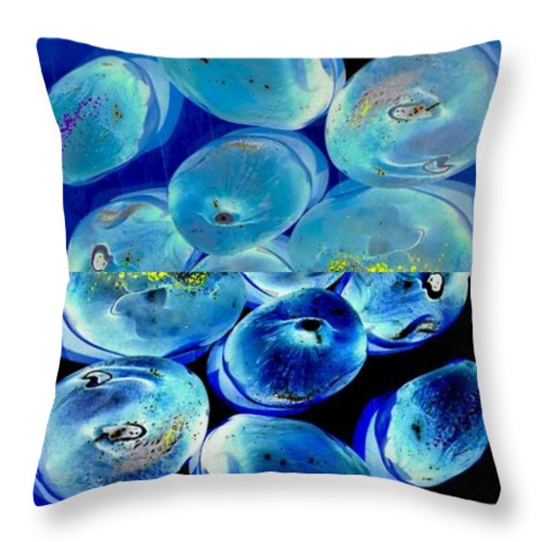 Jelly Bean Jewels 7 Throw Pillow by Randall Weidner