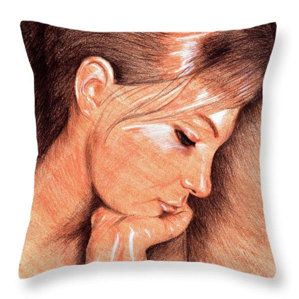 Jenny Throw Pillow by Hakon Soreide