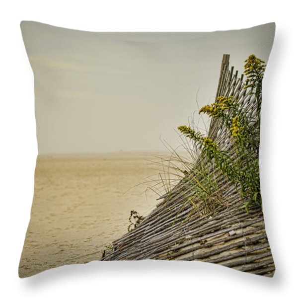 Jersey Shore Throw Pillow by Heather Applegate