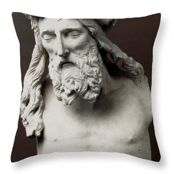 Jesus: Crucifixion Throw Pillow by Granger