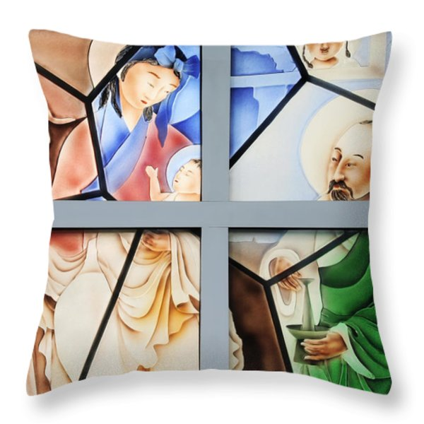 Jesus is Chinese Throw Pillow by Christine Till