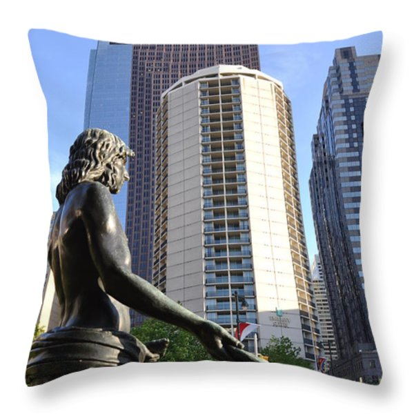 Jesus of Philadelphia Throw Pillow by Bill Cannon