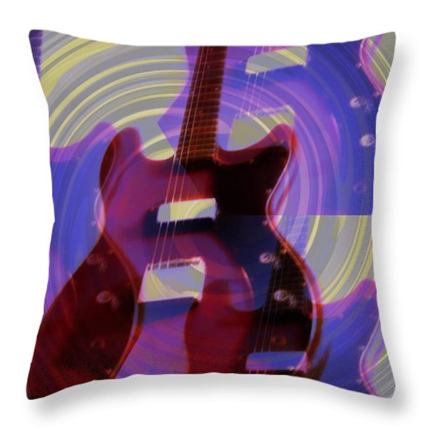 Jet Screamer - Guild Jet Star Throw Pillow by Bill Cannon