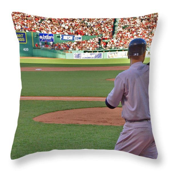 Jeter Throw Pillow by Joann Vitali