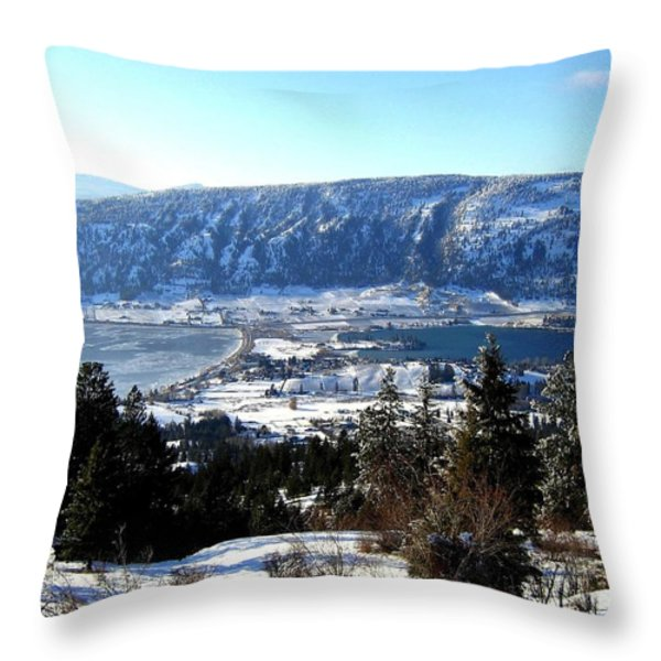 Jewel Of The Okanagan Throw Pillow by Will Borden