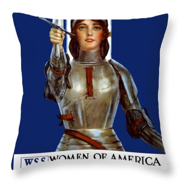 Joan of Arc Saved France Throw Pillow by War Is Hell Store