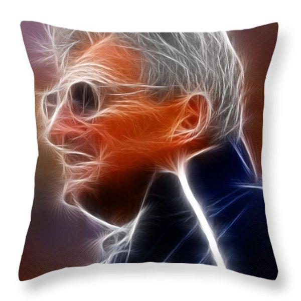 Joe Paterno Throw Pillow by Paul Van Scott