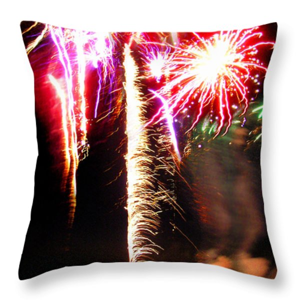 Joe's Fireworks Party 1 Throw Pillow by Charles Harden