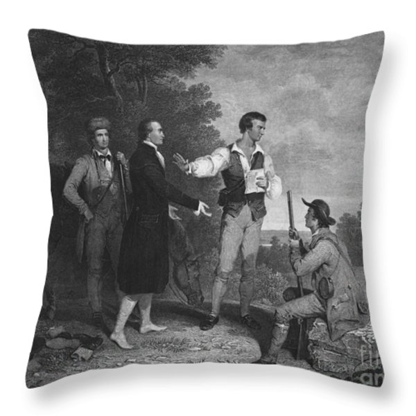 John Andre Throw Pillow by Photo Researchers