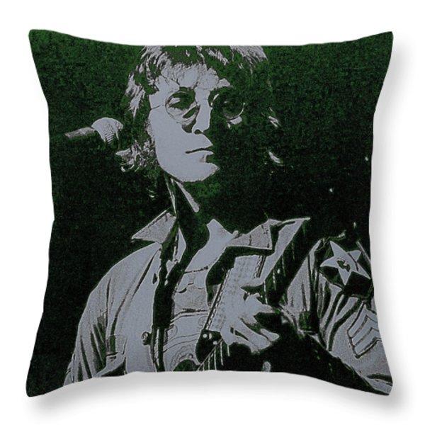 John Lennon Throw Pillow by David Patterson
