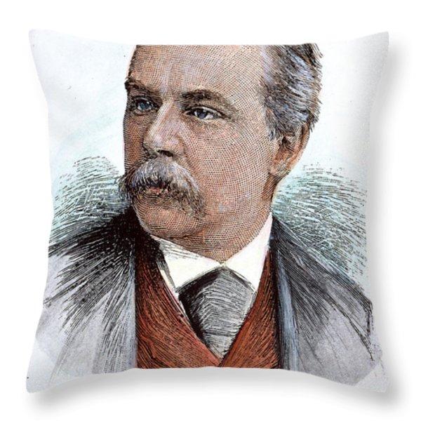 John Pierpont Morgan (1837-1913) Throw Pillow by Granger