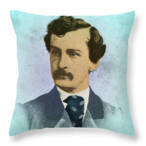 John Wilkes Booth, Assassin Throw Pillow by Photo Researchers