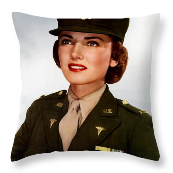 Join The Army Nurse Corps Throw Pillow by War Is Hell Store