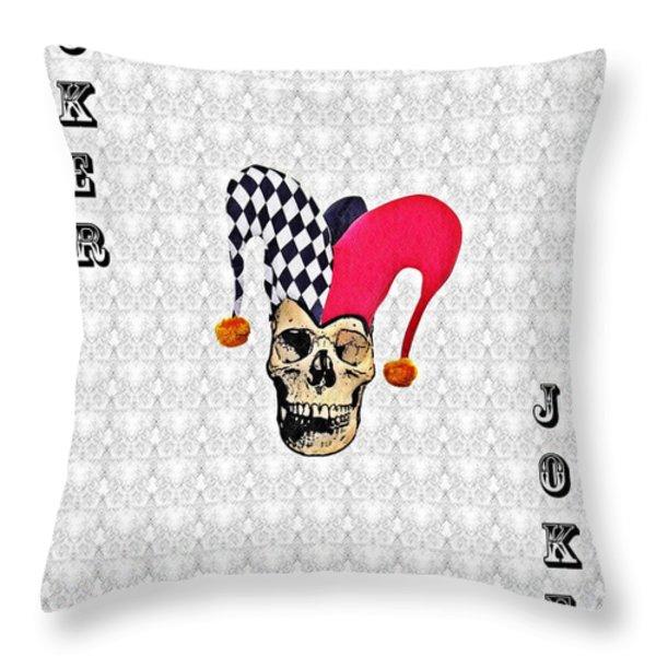 Joker Throw Pillow by Bill Cannon