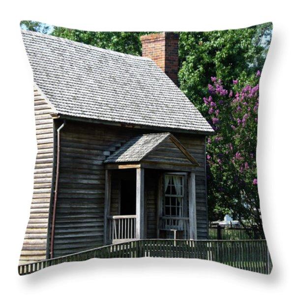Jones Law Office Appomattox Court House Virginia Throw Pillow by Teresa Mucha