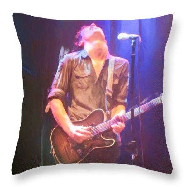 Jonny Lang Throw Pillow by Heidi Smith